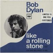 "Bob Dylan Like A Rolling Stone UK 7"" vinyl"