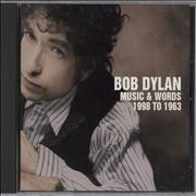 Click here for more info about 'Bob Dylan - Music & Words 1998 To 1963'