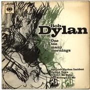 """Bob Dylan One Too Many Mornings E.P. - VG UK 7"""" vinyl"""