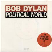 "Bob Dylan Political World UK 7"" vinyl"