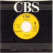 "Bob Dylan Political World Spain 7"" vinyl Promo"