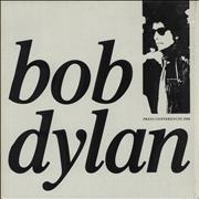 Bob Dylan Press Conferences 1986 UK picture disc LP