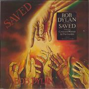 Bob Dylan Saved - Stickered UK vinyl LP