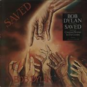 Bob Dylan Saved - Gold promo stamp UK vinyl LP