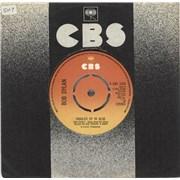 "Bob Dylan Tangled Up In Blue - 4 Prong UK 7"" vinyl"