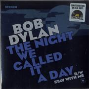 "Bob Dylan The Night We Called It A Day - Blue Vinyl - Sealed UK 7"" vinyl"