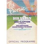Bob Dylan The Picnic At Blackbushe Aerodrome UK tour programme