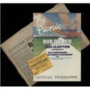 Bob Dylan The Picnic At Blackbushe Aerodrome + Ticket Stub UK tour programme