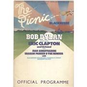 Bob Dylan The Picnic At Blackbushe Aerodrome + Ticket Stub - EX UK tour programme