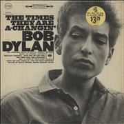 Bob Dylan The Times They Are A-Changin' - 1st USA vinyl LP
