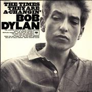 Bob Dylan The Times They Are A-Changin' USA vinyl LP