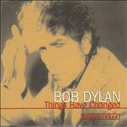 Bob Dylan Things Have Changed - Japanese Promo Stickered Austria CD single Promo