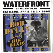 Bob Dylan Waterfront, Stockholm 2017 Lithograph - Blue, Black & Silver UK poster Promo