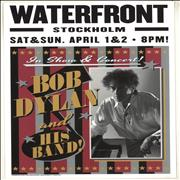 Bob Dylan Waterfront, Stockholm 2017 Lithograph - Pink, Black & Silver UK poster Promo