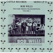 Bob Wills The Rare Presto Transcriptions Vol. 3 Germany vinyl LP