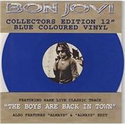 """Bon Jovi Always - Blue Vinyl UK 12"""" vinyl"""