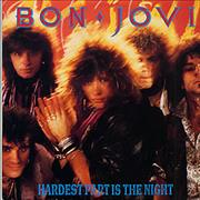 "Bon Jovi Hardest Part Is The Night UK 12"" vinyl"