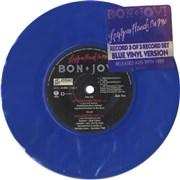"Bon Jovi Lay Your Hands On Me - Blue UK 7"" vinyl"