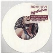 "Bon Jovi Lay Your Hands On Me - White UK 7"" vinyl"