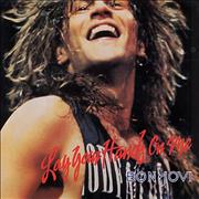 "Bon Jovi Lay Your Hands On Me USA 7"" vinyl"