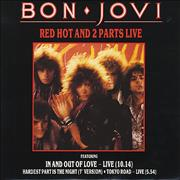 Click here for more info about 'Bon Jovi - Red Hot And 2 Parts Live - Red vinyl - Autographed'