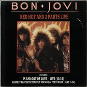 Click here for more info about 'Bon Jovi - Red Hot And 2 Parts Live - Red vinyl - EX'