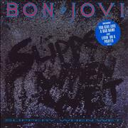 Click here for more info about 'Bon Jovi - Slippery When Wet - 2 Song Sticker - EX'