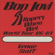 Click here for more info about 'Bon Jovi - Slippery When Wet - World Tour 86-87'