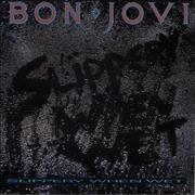 Bon Jovi Slippery When Wet UK vinyl LP