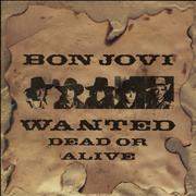 Click here for more info about 'Bon Jovi - Wanted Dead Or Alive + Stickers'