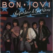 "Bon Jovi You Give Love A Bad Name + Patch UK 7"" vinyl"