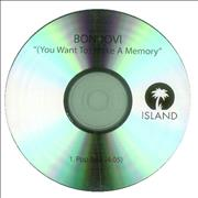 Click here for more info about 'Bon Jovi - [You Want To] Make A Memory - Pop Edit'