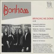Click here for more info about 'Bonham - Bringing Me Down'