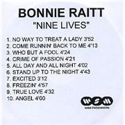 Click here for more info about 'Bonnie Raitt - Nine Lives'
