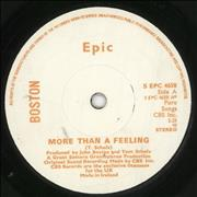 Click here for more info about 'Boston - More Than A Feeling - White & Orange label'