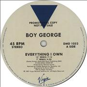 Click here for more info about 'Boy George - Everything I Own'