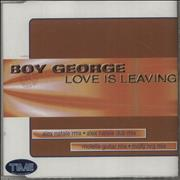 Click here for more info about 'Boy George - Love Is Leaving'
