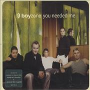 Click here for more info about 'Boyzone - You Needed Me'