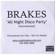Brakes (00s) All Night Disco Party - Instrumental UK CD-R acetate Promo