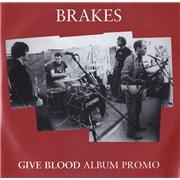 Brakes (00s) Give Blood - Album Promo UK CD album Promo