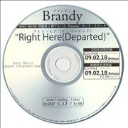 Click here for more info about 'Brandy - Right Here (Departed)'