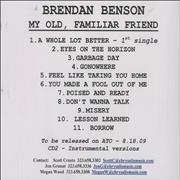 Click here for more info about 'Brendan Benson - My Old Familiar Friend'