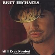 Bret Michaels All I Ever Needed USA CD album Promo
