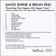 Click here for more info about 'Brian Eno & David Byrne - Everything That Happens Will Happen Today'