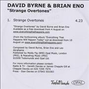 Click here for more info about 'Brian Eno & David Byrne - Strange Overtones'