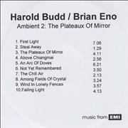 Click here for more info about 'Brian Eno - Ambient 2: The Plateux Of Mirror'