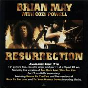 Click here for more info about 'Brian May - Resurrection - Display flat'