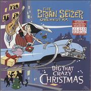 Click here for more info about 'Brian Setzer - Dig That Crazy Christmas - Red & White Vinyl - Sealed'
