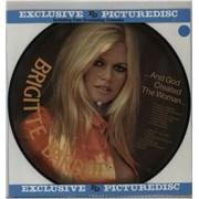 Brigitte Bardot Et Dieu Crea La Femme... And God Created The Woman + Calendar Insert Denmark picture disc LP
