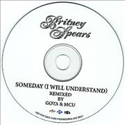 Britney Spears Someday (I Will Understand) Japan CD-R acetate Promo